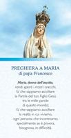 "25 Cartoline Papa Francesco ""Preghiera a Maria"" Cartoleria"
