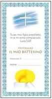 """25 Cartoline """"FESTEGGIO IL MIO BATTESIMO""""  Festività, ricorrenze, occasioni speciali"""