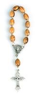 Decina rosario legno ulivo Rosari