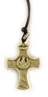 Ciondolo croce con Ultima Cena in rilievo Oggettistica devozionale