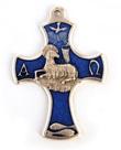 Croce con Agnello in rilievo blu Oggettistica devozionale