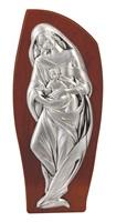 Bassorilievo Madonna con bambino legno argento Arte sacra