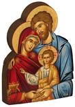 Icona sagomata Sacra Famiglia Arte sacra
