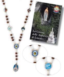 Corona Rosario Delle Apparizioni Di Lourdes Legno Metallo Su Sanpaolostore It