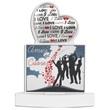 Porta memo Amici del cuore  cuore argento Cartoleria