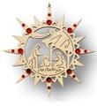 Ornamento Natività con swaroswki rossi Festività, ricorrenze, occasioni speciali