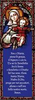 Vetrofania preghiera Ave Maria Cartoleria