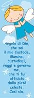 Vetrofania Angelo custode azzurro Oggettistica devozionale
