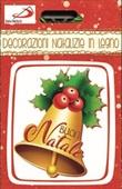 Decorazioni Natalizie - Campana con trifoglio Festività, ricorrenze, occasioni speciali