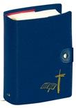 Custodia Liturgia Ore Breviario volume unico con bottone blu Accessori e custodie per libri sacri