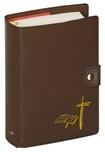 Custodia Liturgia Ore Breviario 4 volumi con bottone marrone