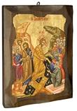Icona Risurrezione antichizzata Arte sacra