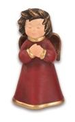 Angelo preghiera rosso bordo oro Festività, ricorrenze, occasioni speciali