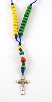 Corona rosario missionario legno colorato croce metallo Rosari