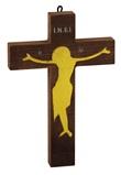 Crocifisso placca oro Arte sacra