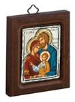 Icona Sacra Famiglia argento galvanico Arte sacra