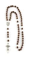 Corona rosario Giovanni Paolo II Santo legno ovale Rosari