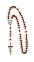 Corona rosario Giovanni Paolo II Santo legno tondo Rosari