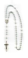 Corona rosario Giovanni Paolo II Santo similperla grigio Rosari