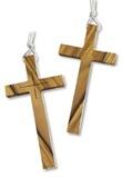 Croce per saio in legno d'ulivo corpo intero e incisione Festività, ricorrenze, occasioni speciali