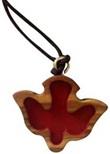 Colomba in legno d'ulivo rossa Festività, ricorrenze, occasioni speciali