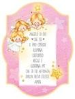 """Tavoletta legno """"Angelo di Dio"""" rosa  Festività, ricorrenze, occasioni speciali"""