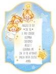 """Tavoletta legno """"Angelo di Dio"""" celeste Festività, ricorrenze, occasioni speciali"""