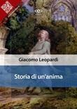 Storia di un'anima. Memorie Ebook di  Giacomo Leopardi, Giacomo Leopardi