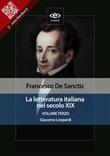 La letteratura italiana nel secolo XIX Ebook di  Francesco De Sanctis, Francesco De Sanctis
