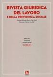 Rivista giuridica del lavoro (2020). Vol. 1: Libro di