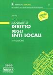Manuale di diritto degli enti locali Libro di