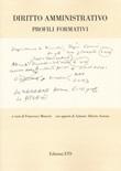 Diritto amministrativo. Profili formativi Libro di