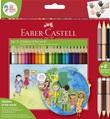 Astuccio cartone 24 matite colorate triangolari Children of the World + 3 matite colorate bicolor Cartoleria