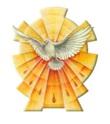 Magnete Colomba Spirito Santo con raggi Festività, ricorrenze, occasioni speciali