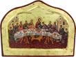 Icona Stampa A Forma Di Arco Su Legno Con Sfondo Dorato Cm 24 X 18 - Ultima Cena Festività, ricorrenze, occasioni speciali