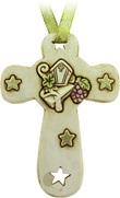 5 Croce In Resina Con Mitria E Stelle Cm 8,5 Festività, ricorrenze, occasioni speciali