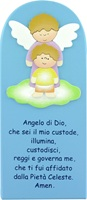Pala Bassorilievo Angelo Di Dio Azzurro Cm 28X12 Festività, ricorrenze, occasioni speciali