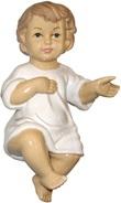 Gesù Bambino In Ceramica Lucida Cm 10 Festività, ricorrenze, occasioni speciali