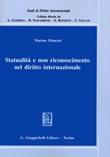Statualità e non riconoscimento nel diritto internazionale Libro di  Marina Mancini