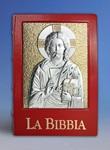 Custodia Bibbia Via Verità e Vita rossa Pantocratore argento (Ed. San Paolo) Accessori e custodie per libri sacri