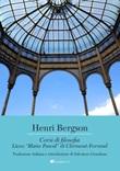 Corsi di filosofia. Liceo «Blaise Pascal» di Clermont-Ferrand Ebook di  Henri Bergson