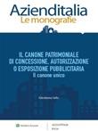 Il canone patrimoniale di concessione, autorizzazione o esposizione pubblicitaria Ebook di  Girolamo Ielo
