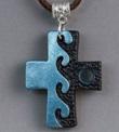 Ciondolo Croce bicolore metalizzato Oggettistica devozionale