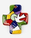 Croce Prima Comunione Colomba multicolor Oggettistica devozionale