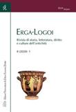 Erga-Logoi. Rivista di storia, letteratura, diritto e culture dell'antichità (2020). Vol. 8: Libro di