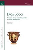 Erga-Logoi. Rivista di storia, letteratura, diritto e culture dell'antichità (2021). Vol. 9: Libro di