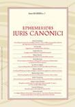 Ephemerides Iuris canonici (2020). Vol. 1: Libro di Aa. Vv.