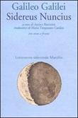 Sidereus nuncius Libro di  Galileo Galilei