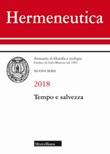 Hermeneutica. Annuario di filosofia e teologia (2018). Tempo e salvezza Libro di