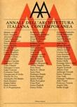 Annali dell'architettura italiana contemporanea (1986-1987) Libro di